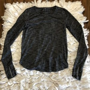 Lululemon Long Sleeve Running Shirt High Low Back